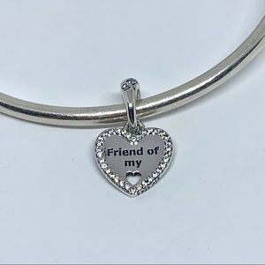 Dangle Charm Hearts of Friendship Sterling Silver